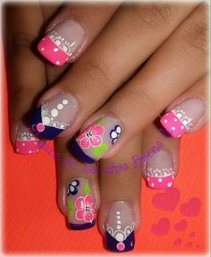 Manicure And Pedicure, Gel Nails, Cool Nail Art, Simple Designs, Nail Art Designs, Beauty, Margarita, Ideas Para, Fingers