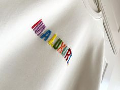 Our 'Im a Luxury' hand embroidered in multiple colours from reds, pinks, yellow, orange, blues and green thread work. Modern Relaxed Sweatshirt is an off white unisex sweat with the humorous embroidery placed in the middle of the sweatshirt so it lays on the chest. Branding on grosgrain and the hem of the sweatshirt. Only a small quantity made so get your before sizes go. A perfect Christmas or birthday to make someone smile :) Off White Sweatshirt, Thread Work, Grosgrain, Unisex, Orange, Yellow, Luxury, Sweatshirts, Blues