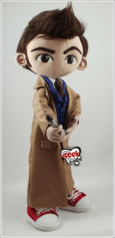 SpeakGeekAndEnter made a perfect little 10th Doctor doll!