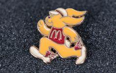 1981 Mcdonalds Rabbit Vintage Tack Pin by MichaelPMoriarty on Etsy