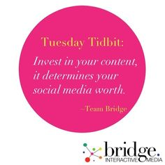 #bimtuesdaytidbit #bridgeinteractivemedia #socialmediamarketing # digitalmarketing #value #socialmediaquote #consulting #teambridge