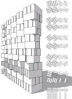 Façade de brique pour le bâtiment SAHRDC Les architectes d'Anagramme ont mené un projet unique de bâtiment SAHRDC