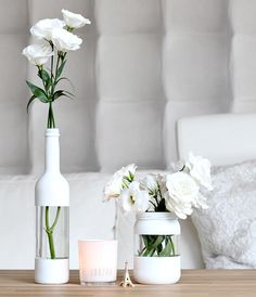 Cool painting ideas for DIY glass vases - cool painting idea for DIY vase in wh. - El yapımı ev dekorasyonu - Cool painting ideas for DIY glass vases – cool painting idea for DIY vase in white – - Diy Décoration, Easy Diy, Fun Diy, Cool Diy, Diy Upcycled Planters, Upcycled Crafts, Upcycled Garden, Garrafa Diy, Bottles And Jars
