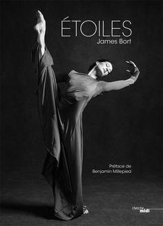"""Le livre """"Étoiles"""" par James Bort en librairie, avec les portraits des danseurs Étoiles de l'Opéra de Paris. Aux éditions du Cherche-midi."""