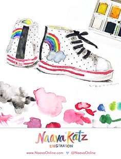 Mini Boden Rainbow Hightop Sneakers | @naavaonline