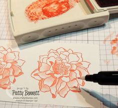 How To Watercolor with the Stampin Up blender pens and the Peaceful Petals stamp set by Patty Bennett, www.PattyStamps.com