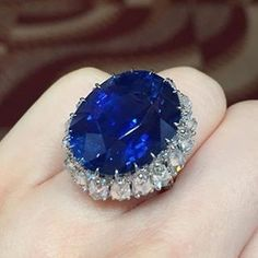 "691 Likes, 10 Comments - BOLA | 3 Jewelry (@bola3jewelry) on Instagram: "" I Like Big #Rings and I Cannot Lie!  BEAUTIFUL!  27cts #CeylonSapphire and #Diamond Ring from…"""