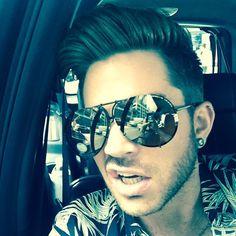 "Adam Lambert selfie posted via Instagram  ""Traffic"""
