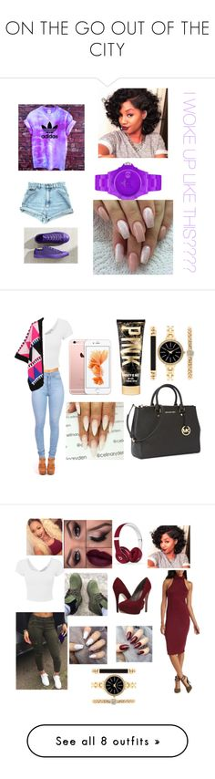 """""""ON THE GO OUT OF THE CITY"""" by charess on Polyvore featuring Converse, Toy Watch, WithChic, Michael Kors, LE3NO, Style & Co., Timberland, Beats by Dr. Dre, Charlotte Russe and Michael Antonio"""