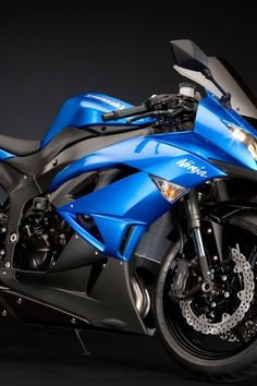 Kawasaki Ninja. Love this blue color, SAY IT AGAIN, I LOVE THIS COLOR BLUE