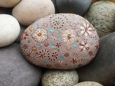 Rock art: hand painted rock paperweight great for decor by Livingpebbles on Etsy