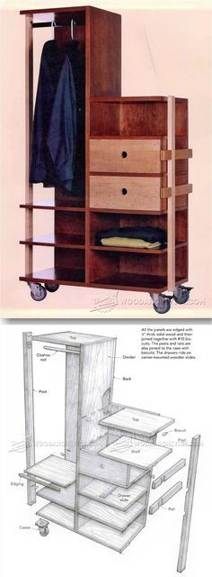 Mobile Closet Plans - Furniture Plans and Projects | WoodArchivist.com