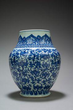 Chinese baluster vase period Kangxi, (1662-1722) More At FOSTERGINGER @ Pinterest