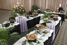 Buffet Set Tables Ideas Candy Food Reception