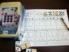 Matemáticas con el juego de dominó clásico - Aprendiendo matemáticas
