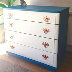 Last From Today I Swear Pretty Little Dresser With Teal Chalkpaint White