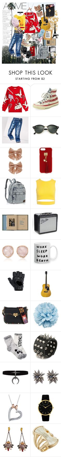 """""""Acme Application"""" by claire-marley on Polyvore featuring Paul & Joe, Converse, Tommy Hilfiger, Ray-Ban, Monsoon, Henri Bendel, Sans Souci, Columbia, Monica Vinader and FRACOMINA"""