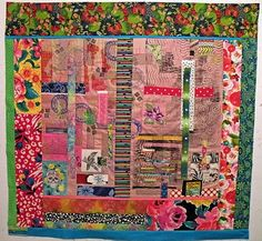 Out in Ole Tucson  Fabric Collage with Machine embroidery & quilting; 2010  Personal Collection