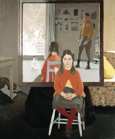 Fairfield Porter (American, 1907-75) : The Mirror, 1966. The Nelson-Atkins Museum of Art, Kansas City, Missouri.