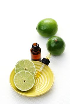 using essential oils in lotions and cosmetics- I use lime oil on blemishes and they disappear fast!