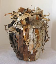 Rustic Birchbark Vase Natural Woodland Decor by woodlandgems, $300.00
