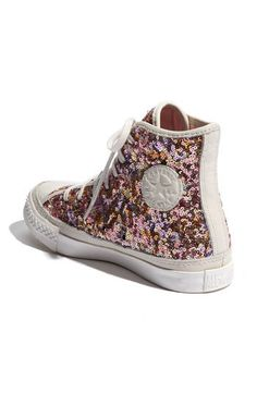Pink Gold White Sparkle High Top Converse ♥