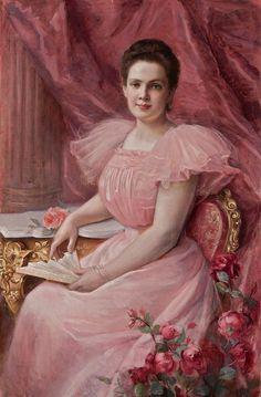 Pretty in Pink  Paul de la Boulaye  ca. 1890s