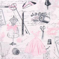 tailor fashion Paris Timeless Treasures vintage sew fabric