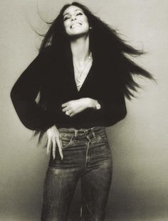WE ♥ CHER- Cher in I'd Rather Believe In You, 1976 by Norman Seeff, www.imageampilfied.com, Image Amplified