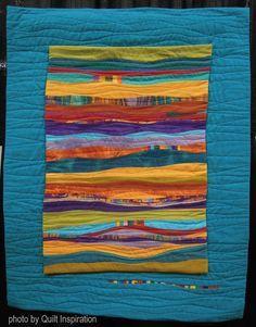 Part 4 (Quilt Inspiration) - Quilt Arizona ! Part 4 (Quilt Inspiration) Quilt Arizona ! Part 4 (Quilt Inspiration) Quilt Arizona - Landscape Art Quilts, Landscape Edging, Landscape Paintings, Landscapes, Patchwork Quilting, Art Quilting, Machine Quilting, Small Quilts, Mini Quilts