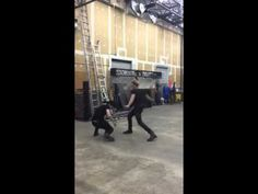 Dom and Matthew practice swordfighting as Jace and Alec // SHADOWHUNTERS tv show