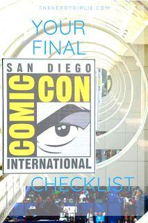 Megan Elvrum: Your Final San Diego Comic Con Checklist San Diego Comic Con, Finals, Geek, Comics, Final Exams, Geeks, Cartoons, Comic, Comics And Cartoons