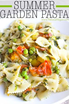 Warm Summer Garden Pasta - The Local Vegan // www.thelocalvegan.com: