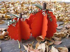 Paper Pumpkin Tutorial #crafts #DIY