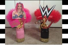 My Sasha Banks/WWE centerpieces! Sasha Banks party girls WWE party