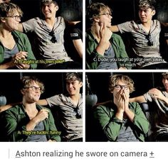 Ashton is so cute. *.* 5SOS *.*