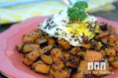 Quinoa Sweet Potato Hash Recipe - Bitesforbabies.com
