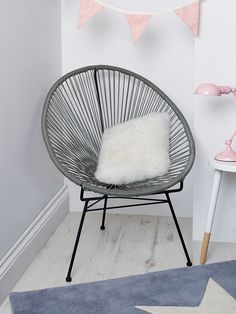 NEW Grey String Chair