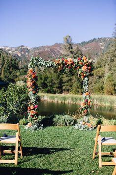 Calistoga Ranch Wedding, Orange Blossom Special Events, Napa Valley Wedding, Wine Country Wedding, Ranch Wedding, Soulflower, Floral Ceremony Arch