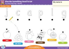 """Give Me Something Good To Eat"" - Lowercase Letter Matching Halloween Worksheet from Super Simple Learning. #preK #kindergarten #ESL"
