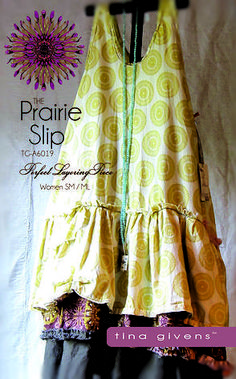 Prairie Slip Sewing Pattern by Tina Givens PDF downloadable sewing patterns Cute!