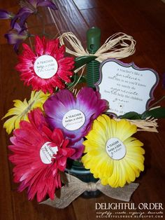 Delightful Order: Teacher Appreciation Gift - Flower Pens