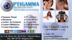 OptiGamma Olaya  -  OptiGamma Centro Óptico en el barrio Olaya en la ciudad de Bogotá.