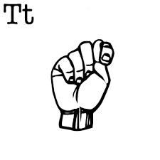 T Sign Language Alphabet, American Sign Language, Jasper, Peace, Signs, Shop Signs, Sobriety, Sign, World