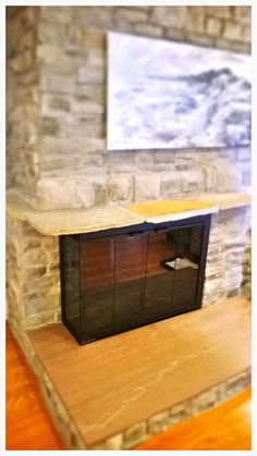 Hearth And Patio, Fireplace Glass Doors, Custom Fireplace, Interior Paint Colors, Living Spaces, Southern, Painting, Image, Design