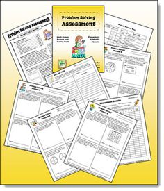 FREE Math Problem Solving Assessment Pack - Four different levels of word problems - great for assessing students at the beginning of the school year
