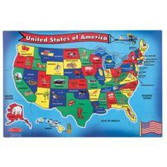 Melissa+&+Doug+USA+Map+Floor+Puzzle