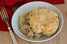 Chicken and biscuit casserole | yankeekitchenninja.com