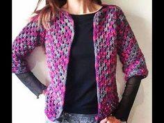 Casaco Barroco em Croche Meia Estação / Crochet Coat / Crochet Cardigan - YouTube