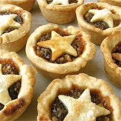 English Christmas Mincemeat Star Tarts